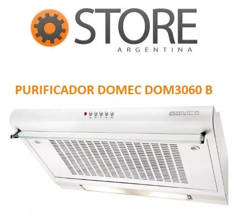 purificador extractor de aire cocina domec 3060b blanco