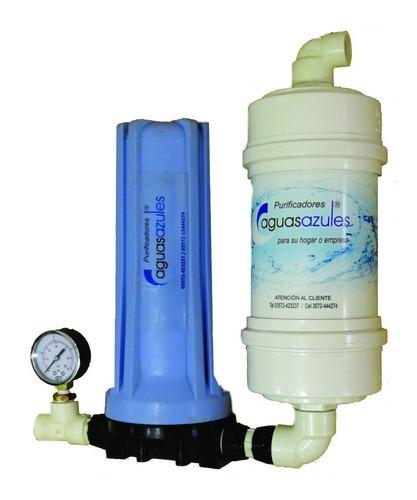 purificador + filtro con canilla o bajo mesada