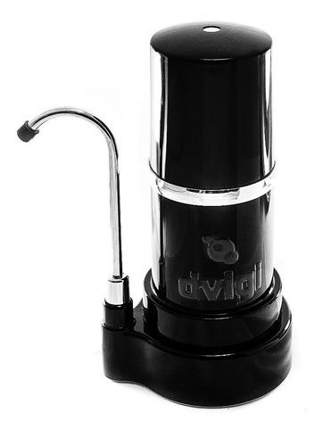 purificador filtro de agua sobre mesada dvigi negro o blanco