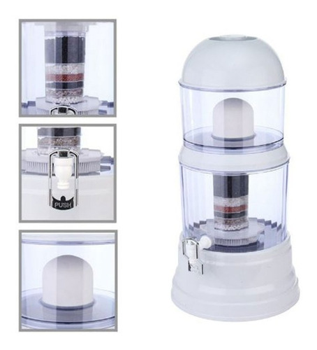 purificador filtro mineralizador agua 100% natural 14 litros