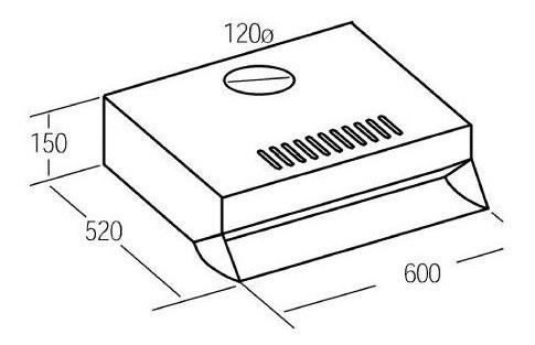 purificador serie standard 60cm blanco