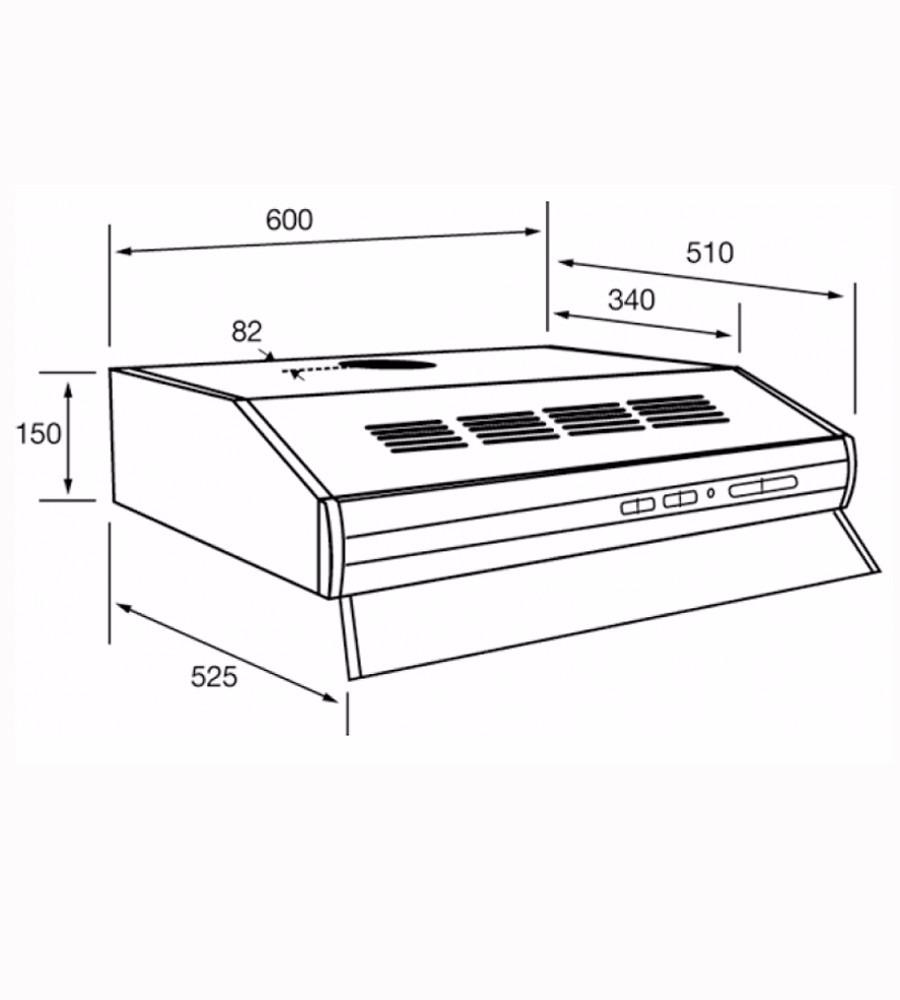 Purificador Spar Bios Blanco 3766 Filtro Metalico Sin Salida  ~ Campanas De Cocina Sin Salida Al Exterior