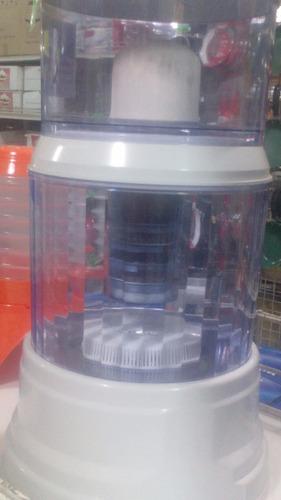 purificador y dispensador de agua con filtros de piedras