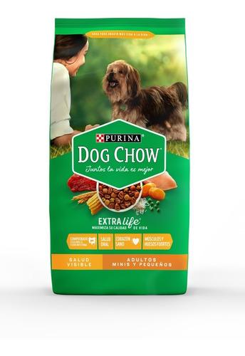 purina® dog chow® adultos minis y pequeños 21kg + regalos