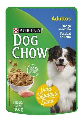 purina® dog chow® adultos sabor pollo 15x100g