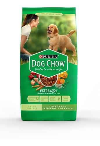 purina® dog chow® cachorros medianos y grandes 8kg + regalos
