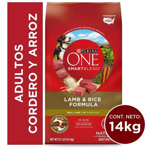 purina one® adultos cordero y arroz 14 kg