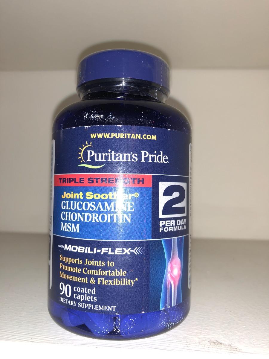 Puritan Pride Triple Strength Glucosamina Msm X 90 Eeuu 120000 Glucosamine Caps Cargando Zoom