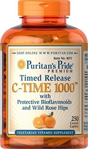 puritan's pride vitamin c-1000 mg with rose hips timed