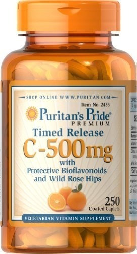 puritan's pride vitamin c-500 mg with rose hips time
