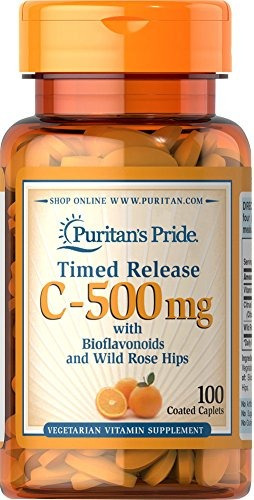 puritan's pride vitamin c-500 mg with rose hips time rele