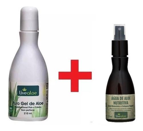 puro gel de aloe + agua nutritiva live aloe