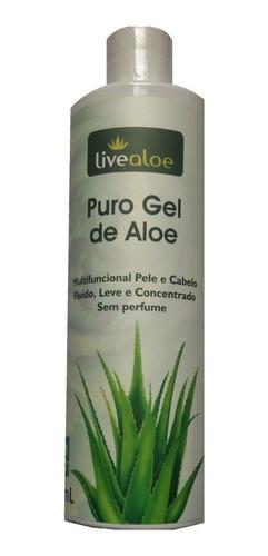 puro gel de aloe vera  multifuncional novo  500ml live aloe
