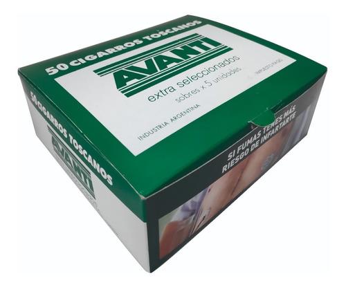 puros cigarros avanti caja x 50 toscanos extra seleccionados