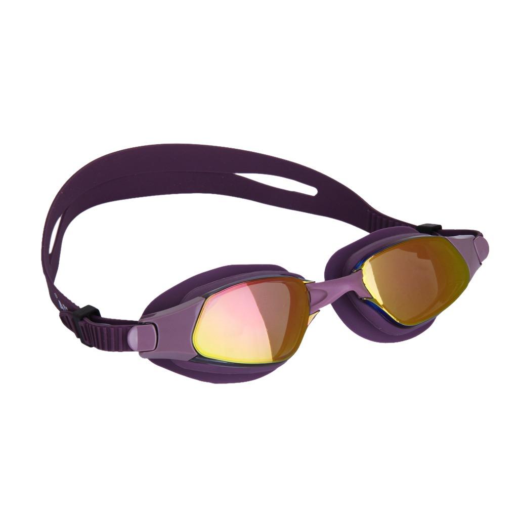 Púrpura Adulto Lucha Contra -fog Natación Gafas De Protecc ...