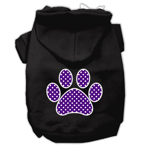 púrpura swiss punto pata pantalla impresión para mascotas