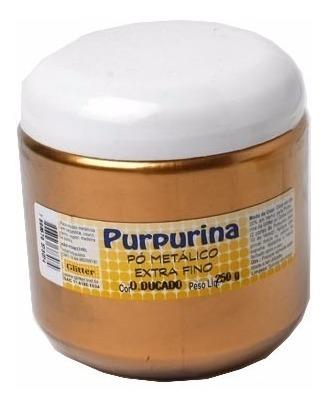 purpurina em pó ouro ducado 250grs *frete+barato*