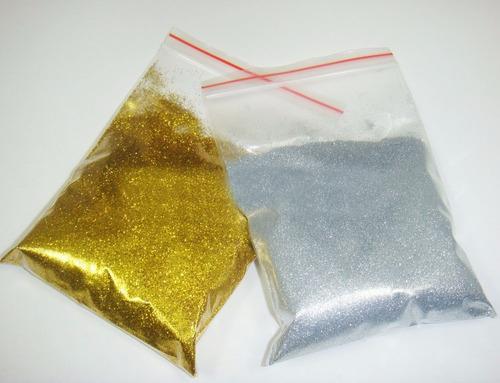 purpurina plata y dorada 40 gramos