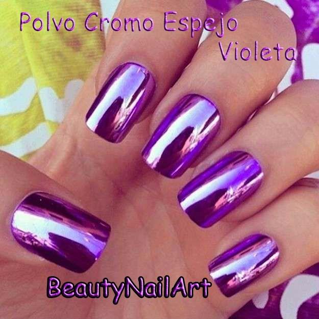 Purpurina Polvo Violeta Efecto Cromo Espejo #02 - $ 179,00 en ...