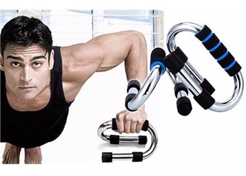 push up bar acero s cromado barras para planchas flexiones