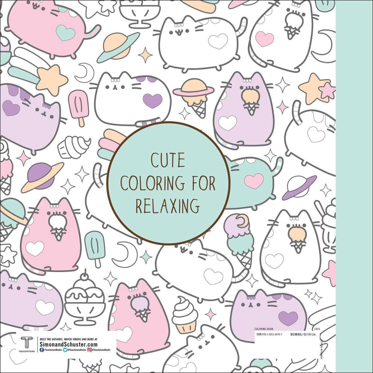 Pusheen Coloring Book Libro Para Colorear + Colores *sk - $ 550.00 ...