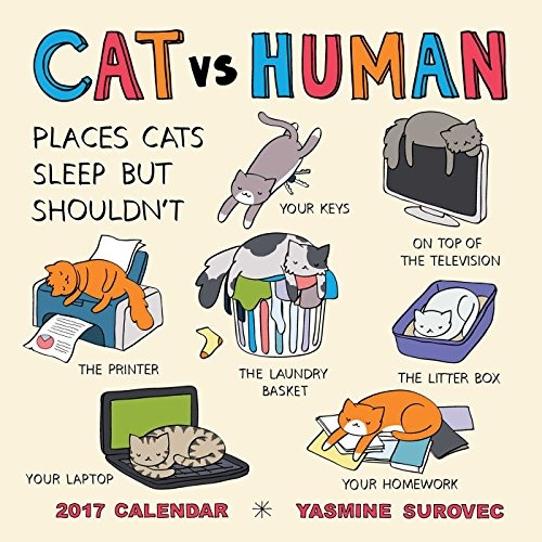Pusheen Felpa Buho Store Cat Vs Human 2017 Wall Calendar