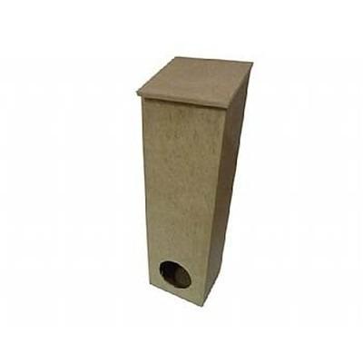 puxa saco com tampa solta estreito furo na frente de madeira