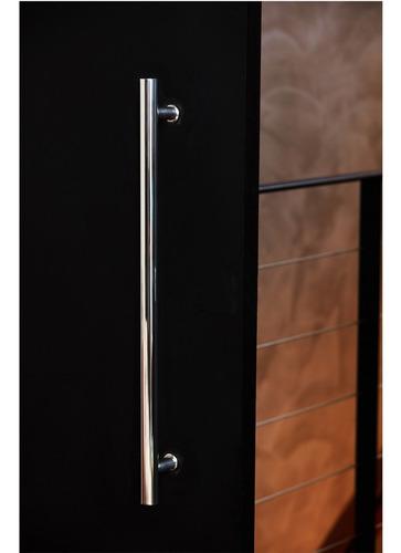 puxador 40 cm porta de correr pivotante madeira e vidro