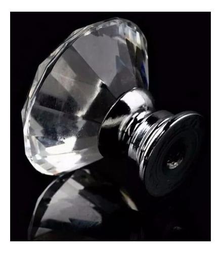 puxador cristal gaveta porta moveis 30 mm 1 peça