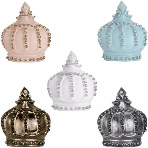 puxador de gaveta coroa decorado em resina - quarto bebe