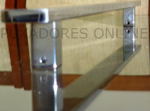 puxador em inox para porta em geral 50cm escovado