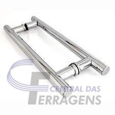 puxador h aluminio 40cmx30cm para porta de vidro e madeira