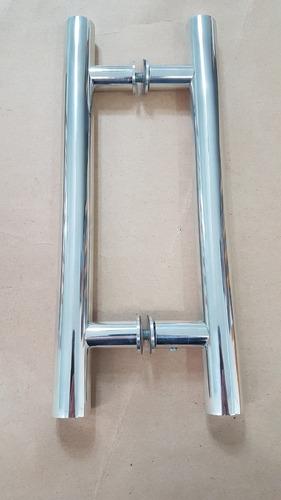 puxador h para porta de madeira  80cm x 60cm aluminio