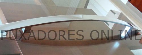 puxador inox curvo para portas em geral 60cm escovado
