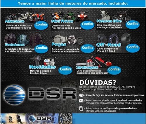 puxador partida manual fácil alumin minimoto nf original dsr