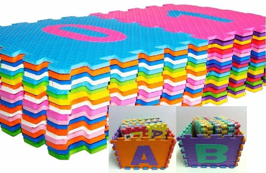 Puzle alfombra piso encastrable goma eva 150 00 en mercado libre - Alfombra de goma eva ...