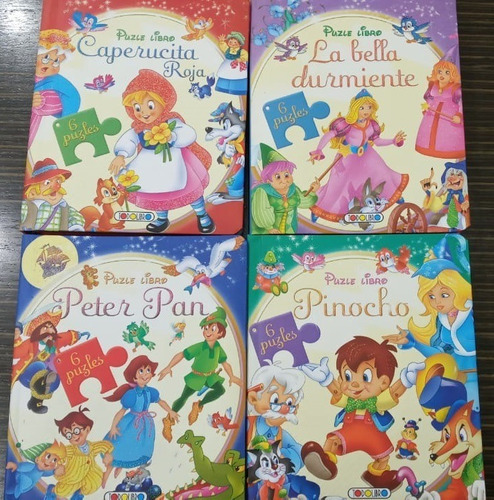 puzle libro - pinocho - 6 puzles