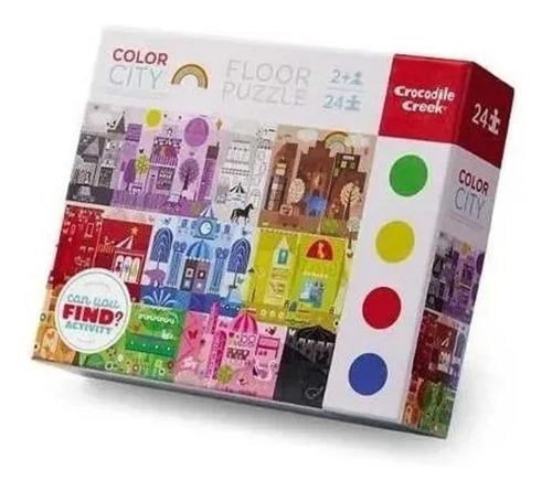 puzzle 24 piezas carton reforzado crocodile creek full edu
