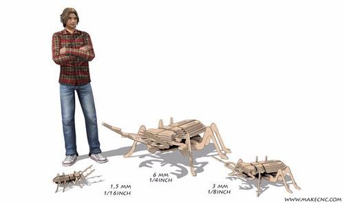 puzzle 3d madera. de colección. escarabajo. insecto armable