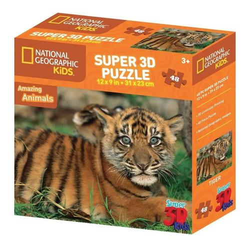puzzle 48 pzas 3d holograma rompecabezas national geographic