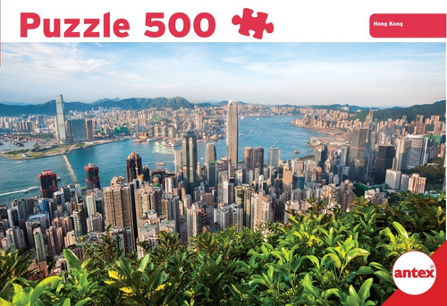 puzzle 500 piezas hong kong rompecabezas antex 3056 edu full