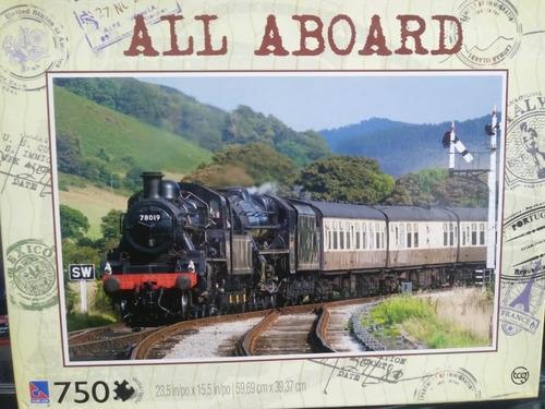 puzzle all aboard 750 piezas - marca sure-lox