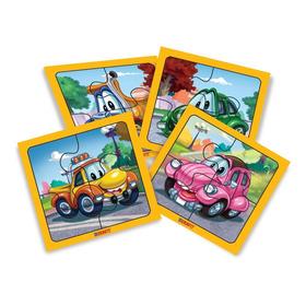 Puzzle Autos Infantil 4 Piezas X4 Duravit Ploppy 185023