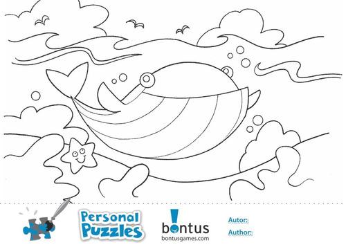 puzzle bontus cangrejo ( con app y hojas para colorear)