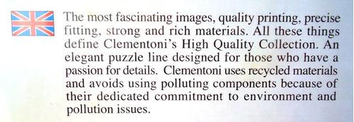 puzzle clementoni 1000 piezas rompecabezas puzles
