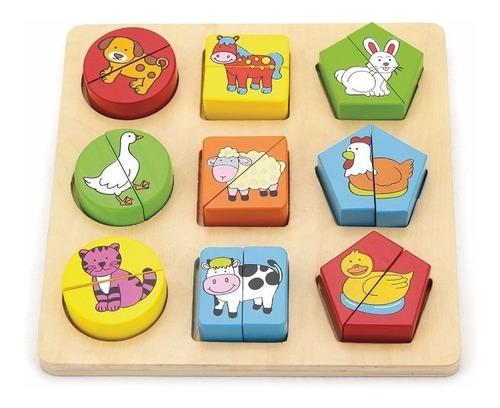 puzzle de madera figuras geométricas