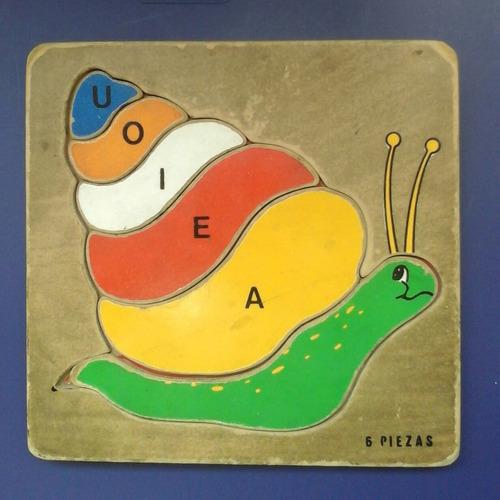 puzzle didáctico caracol