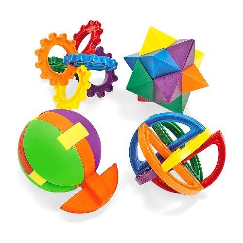 puzzle divertido de bolas de plastico express (1 docena)