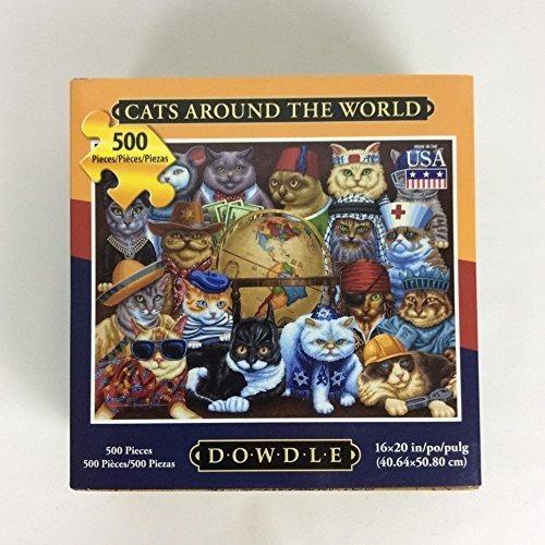 puzzle dowdle - gatos en todo el mundo 500 piezas 16 x 20 ac
