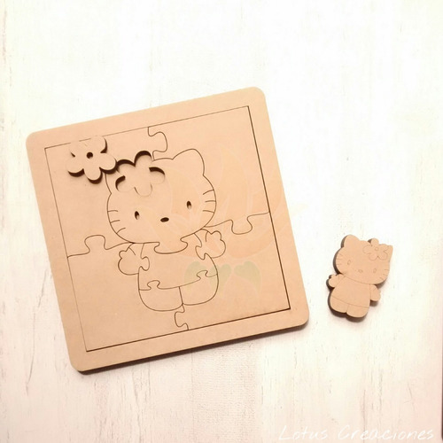 puzzle hello kitty -corte láser-